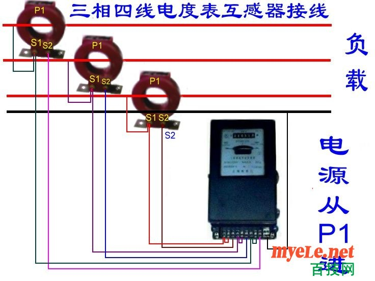 电表接线图 - 电工基础